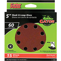 Gator 4144 Sanding Disc, 5 in, 60 Grit