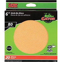 6IN GOLD STICK-ON DISC 80#