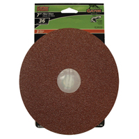 7IN FIBER DISC 36GRIT 3PK
