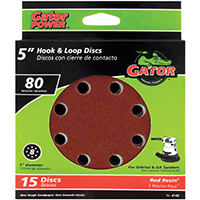 5IN 80GRIT 8HOLE HK/LOOP 15PK