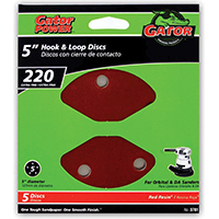 5IN 220GRIT 5HOLE HK/LOOP 5PK