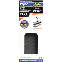 Gator 3311 Sanding Sheet, 11 in x 4-3/8 in, 100 Grit