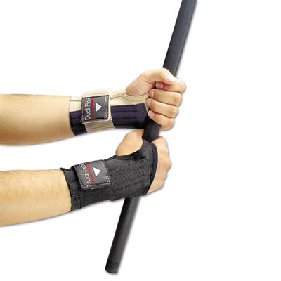 Dual-Flex Wrist Supports, Large, Nylon, Black