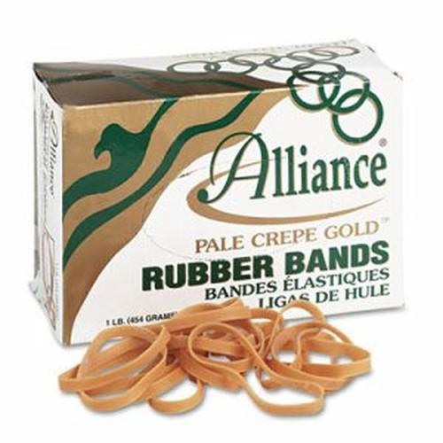 Pale Crepe Gold Rubber Bands, Sz. 64, 3-1/2 x 1/4, 1lb Box