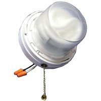 Allied Moulded LH-CFL2 Light Fixture With Wire Leads and Pull Chain, 120 V, CFL