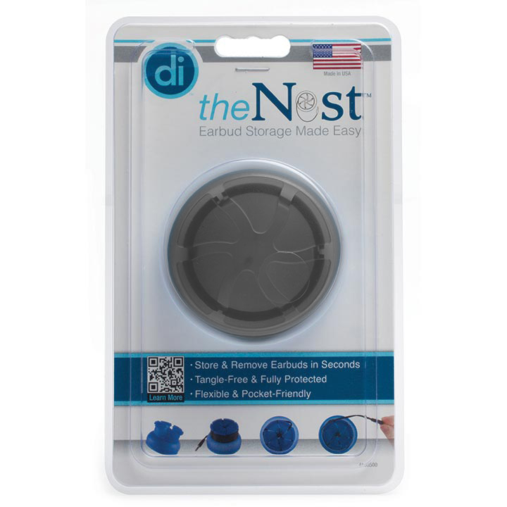 Digital Innovations The Nest TangleFree Earphone Earbud Case Durable Compact Storage System Black