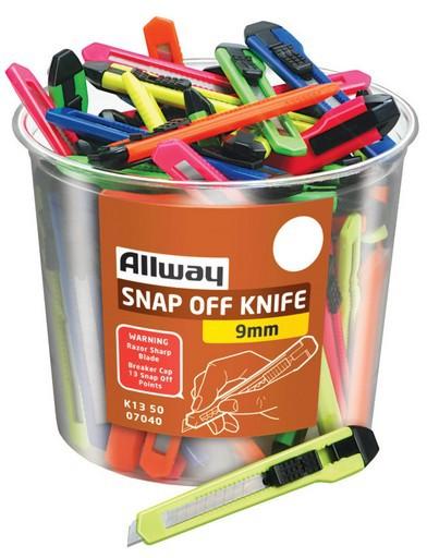 K13-50 9MM SNAP OFF KNIVES