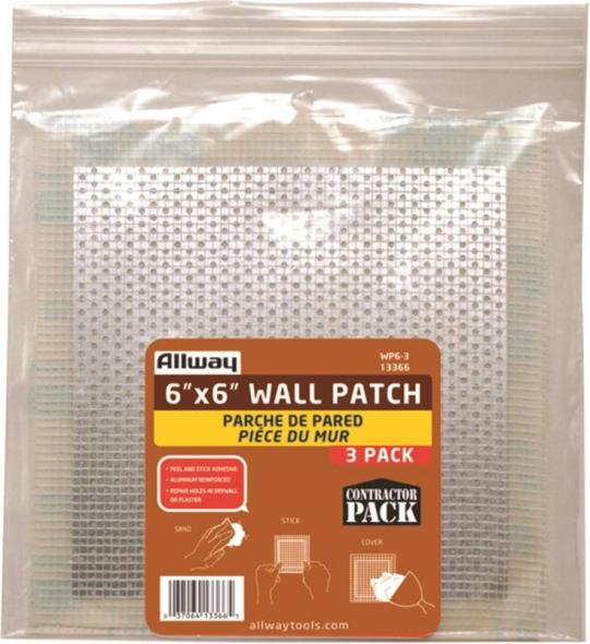 PATCH REPAIR DRYWALL 6X6IN 3PK