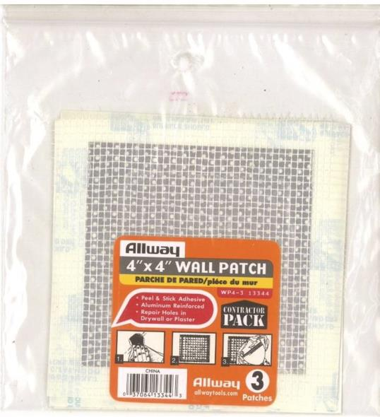 PATCH REPAIR DRYWALL 4X4IN 3PK