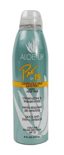 Aloe Up Sport Sunscreen Spray SPF 15, 6oz