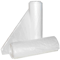 Aluf Plastics Hc-242406c High Density Can Liner, 7 - 10 gal, 24 in L x 24 in W x 6 micron T, HDPE, Clear