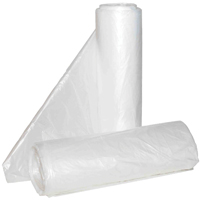 Aluf Plastics Hc-243308c High Density Can Liner, 12 - 16 gal, 33 in L x 24 in W x 8 micron T, HDPE, Clear