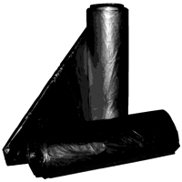 Aluf Plastics Pg6-3720 Low Density Can Liner, 20 - 30 gal, 36 in L x 16 in W x 1.2 mil T, Repro Blend, Black