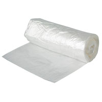 Aluf Plastics OWD334830C Contractor Trash Bag, 45 gal, 48 in L x 33 in W x 3 mil T, Clear