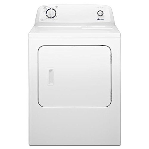 AMANA� 6.5 CU.' FRONT LOAD ELECTRIC DRYER, WHITE, 11 DRYING CYCLES