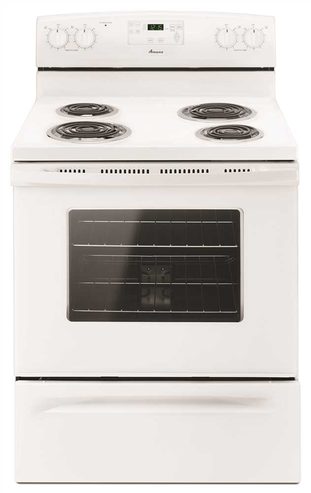 AMANA� 30-INCH 4.8 CU. FT. SINGLE OVEN FREE-STANDING ELECTRIC RANGE, WHITE