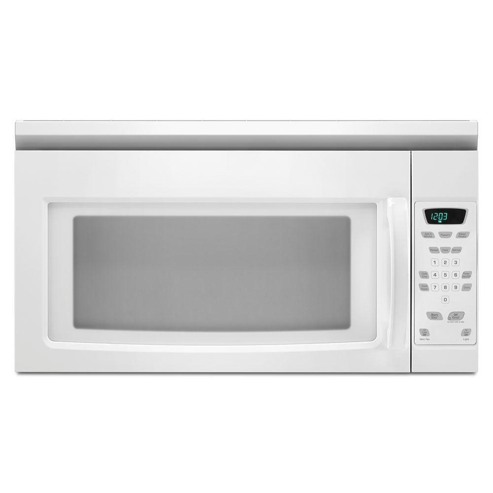 AMANA� 1.5 CU. FT. OVER-THE-RANGE MICROWAVE OVEN, WHITE, 1000 W