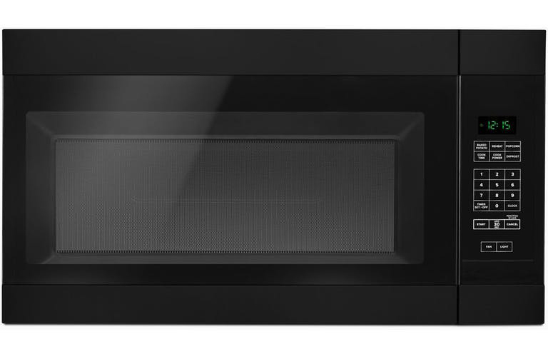 AMANA� 1.5 CU. FT. OVER-THE-RANGE MICROWAVE OVEN, BLACK, 1000 W