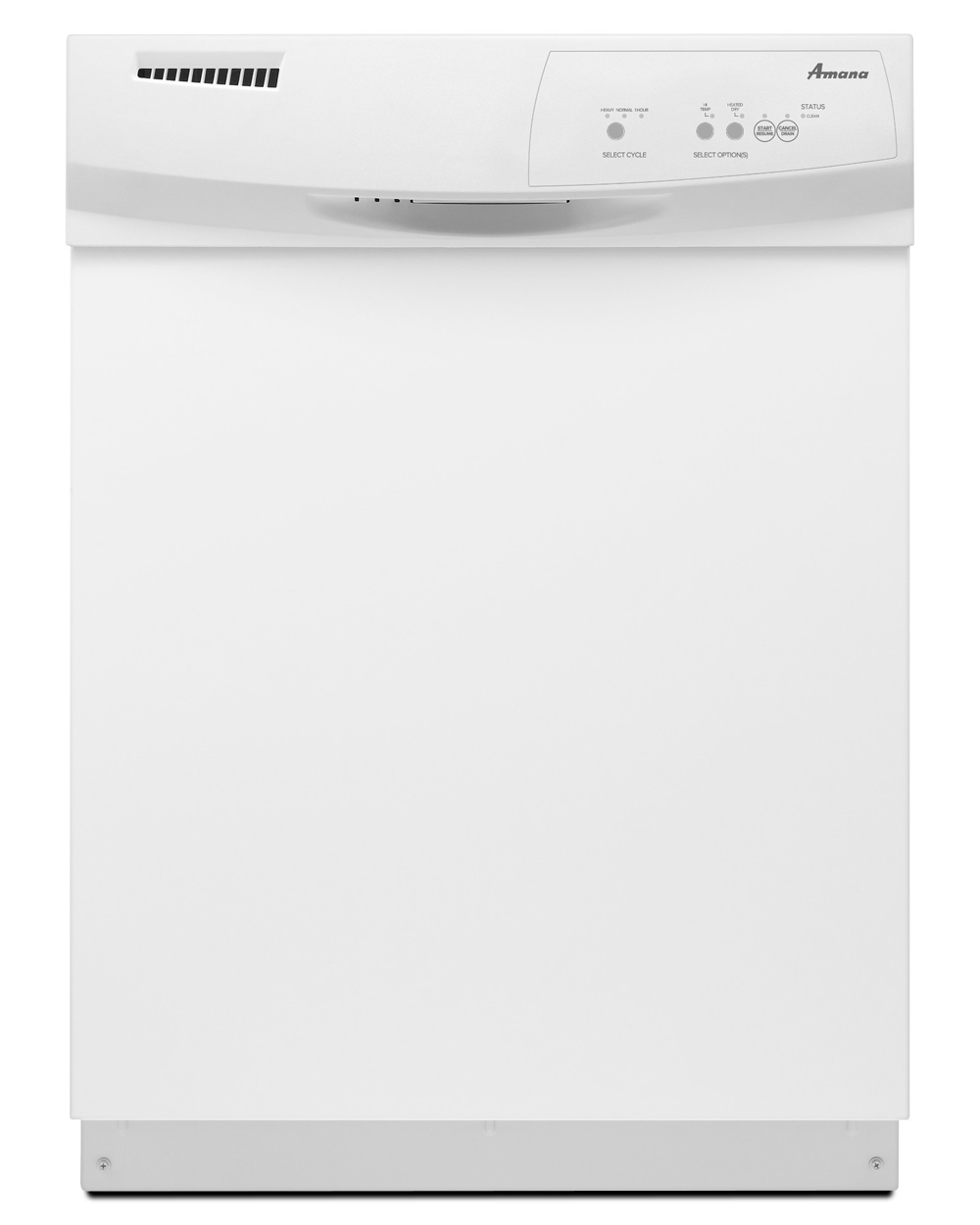 "AMANA� BUILT-IN 24"" TALL DISHWASHER WITH ELECTRONIC FRONT CONTROLS, WHITE, 3 CYCLES"