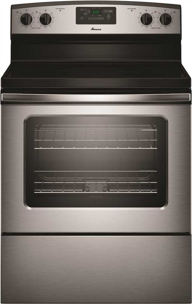 AMANA� 4.8 CU. FT. SMOOTH TOP ELECTRIC RANGE WITH RADIANT ELEMENTS, STAINLESS STEEL