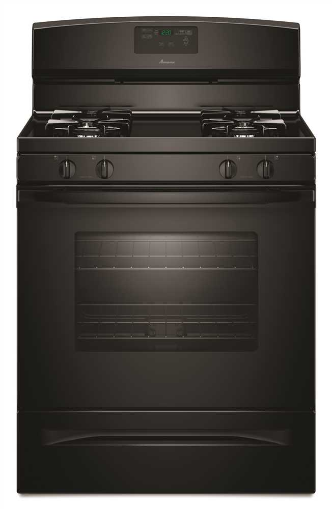5.0 cu. ft. Free-Standing Gas Oven Range with Easy Touch Electronic Controls, Black