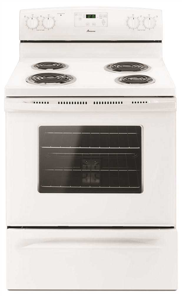 AMANA� 30-INCH 4.8 CU. FT. SINGLE OVEN FREE-STANDING ELECTRIC RANGE, WITH STORAGE DRAWER, WHITE