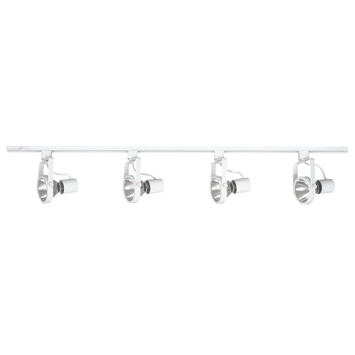 4-LIGHT TRACK FIXTURE, BRIGHT SATIN NICKEL, 48 IN., USES 4 75-WATT INCANDESCENT MEDIUM BASE LAMPS*