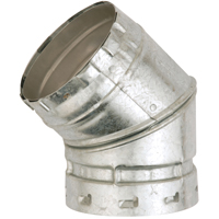 ELBOW GAS VENT 45 DGR 2WAL 5IN