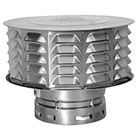 AmeriVent 6ECW Double Wall Universal Gas Vent Cap, 6 in