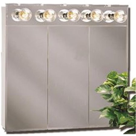 (Open Box) AMERICAN PRIDE TM SERIES BEVELED MIRROR LIGHTED TRI-VIEW MEDCINE CABINET, 30 IN.