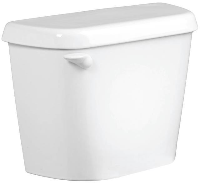 "12"" Rough-In 1.28 GPF Crane Galaxy Toilet Tank, White"