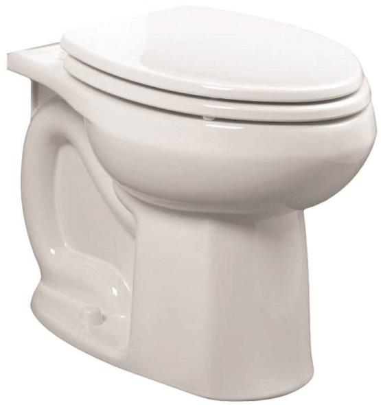 American Standard 3251A.101.020 Flushometer Toilet Bowl, 1.6 gpf, Round, Elongated, 12 in, Vitreous China, White