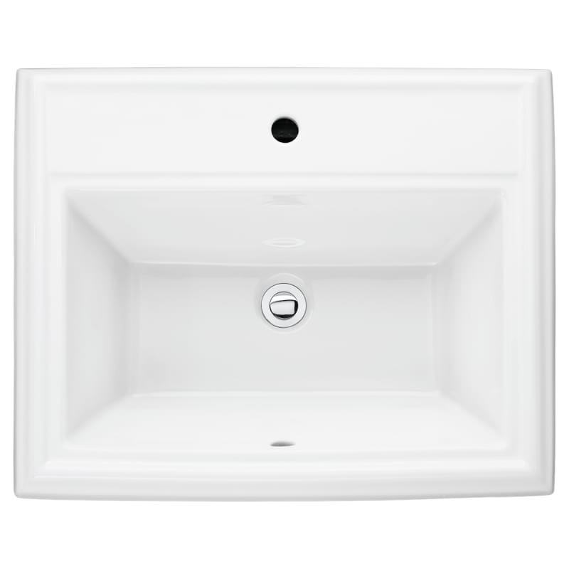 Townsquare Countertop Drop In Lavatory Center Set WHT