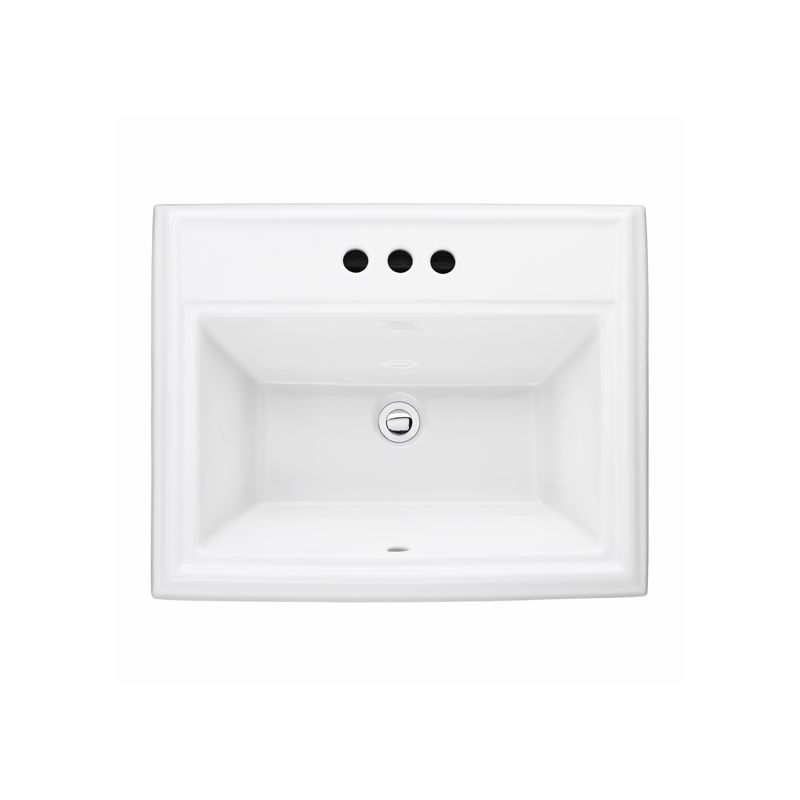 24 Self-Rimming Lavatory Sink 8 Center Townsquare White