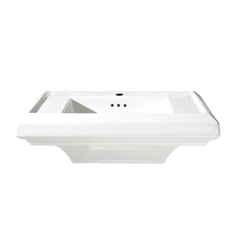 24 Fireclay Pedestal Sink Top Townsquare White