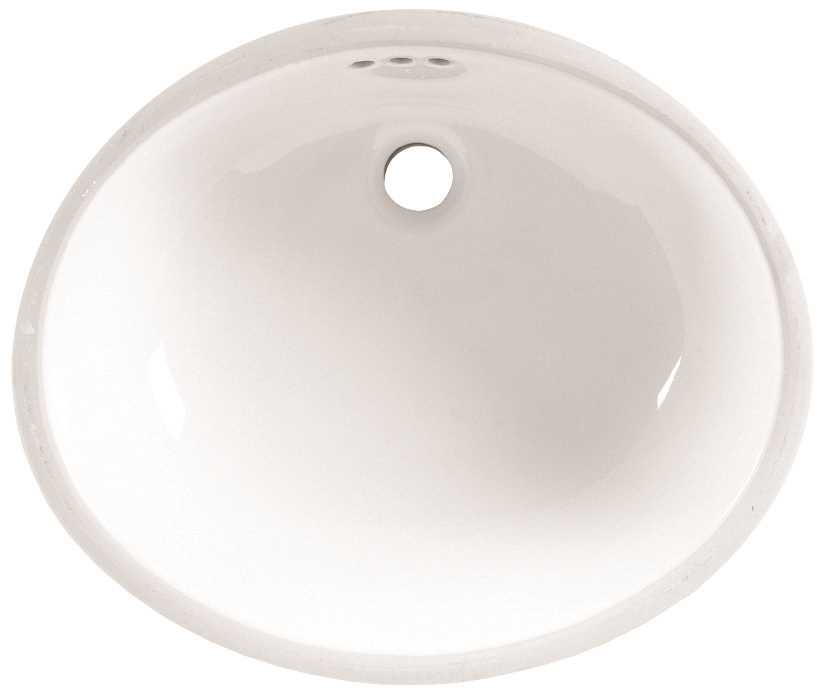 19-1/4X16-1/4 Undercounter Lavatory Sink White