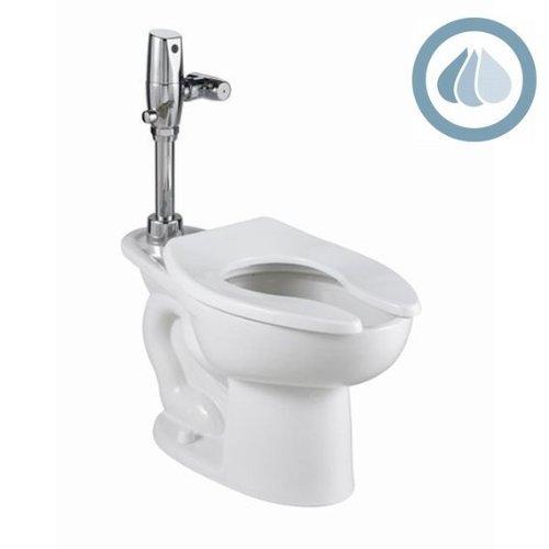1.1/1.6 Gallons Per Flush 16-1/2 Elongated Bowl Top Spud White