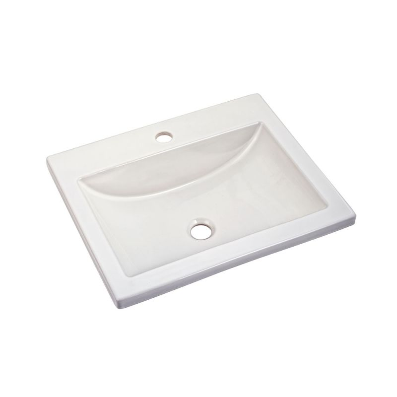 21X17-3/4 Vitreous China Center H Lavatory Sink White