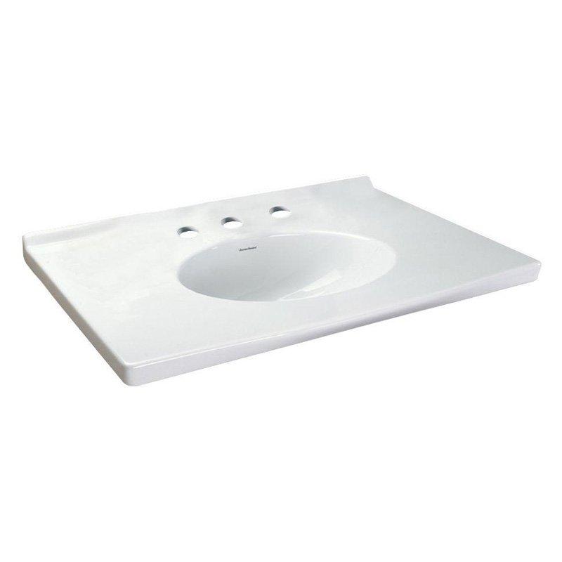 22-7/8X31-1/8 Three Hole Vanity Top White