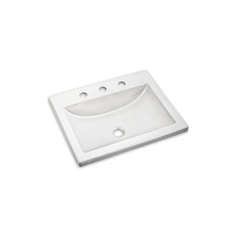 21X17-3/4 Vitreous China 8 Center Set Drop In Sink White
