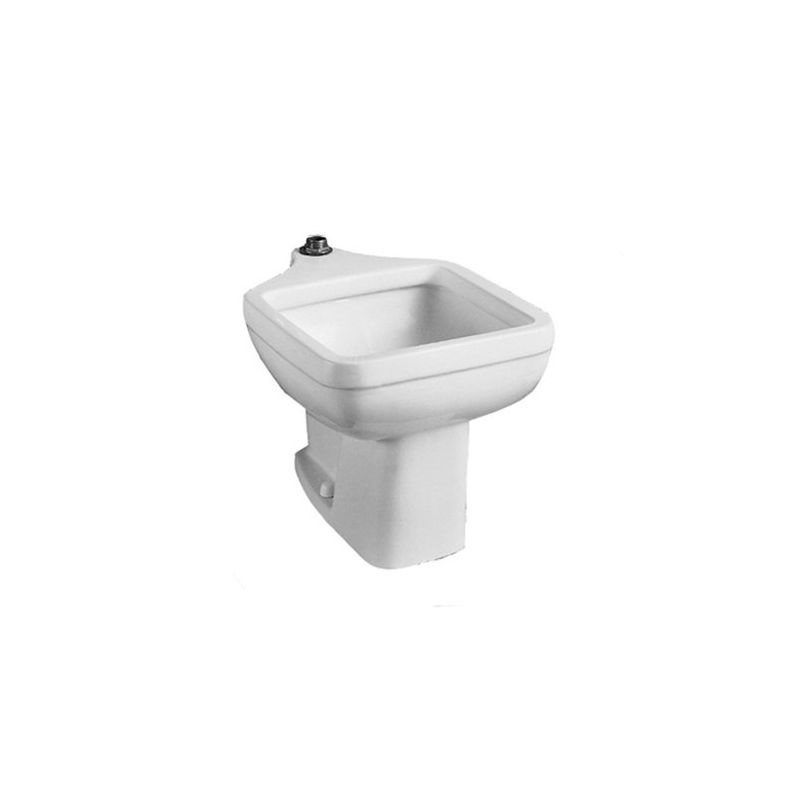 Vitreous China FM Service Sink Pedestal Base Only White