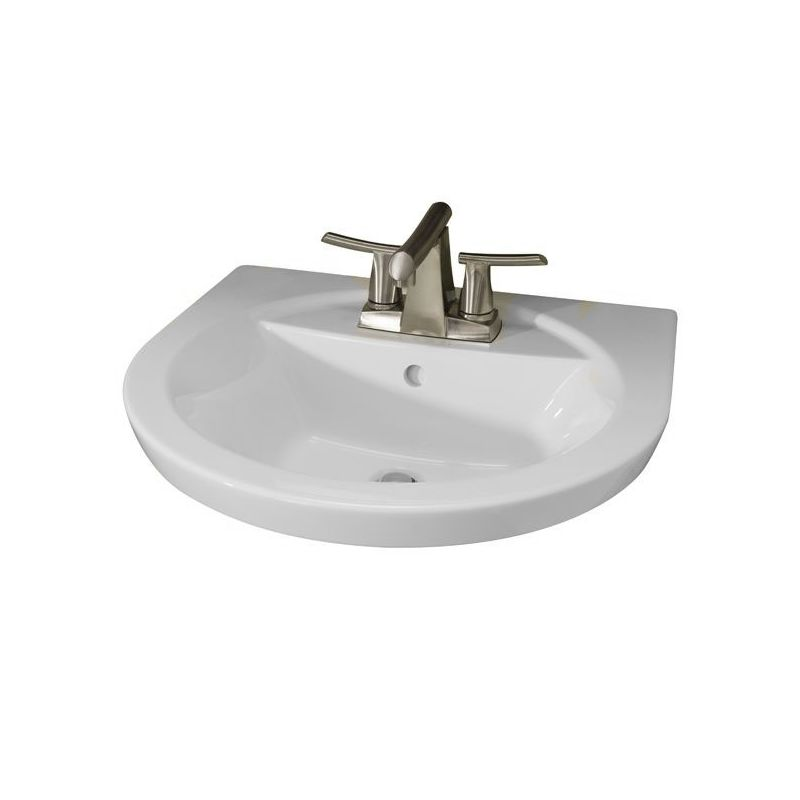Tropic Sink For Pedestal With 8 Center White