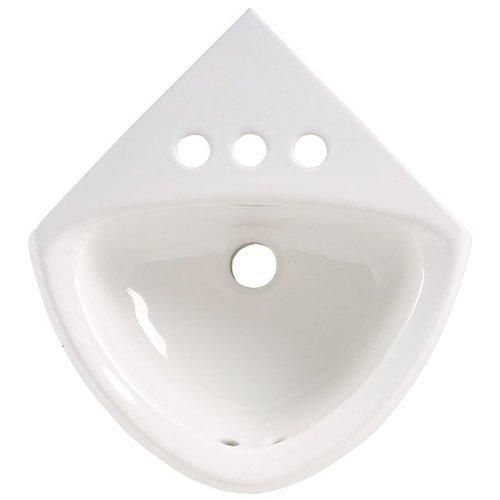 11 X 17 4 Vitreous China White CRN Lavatory *MINETT White