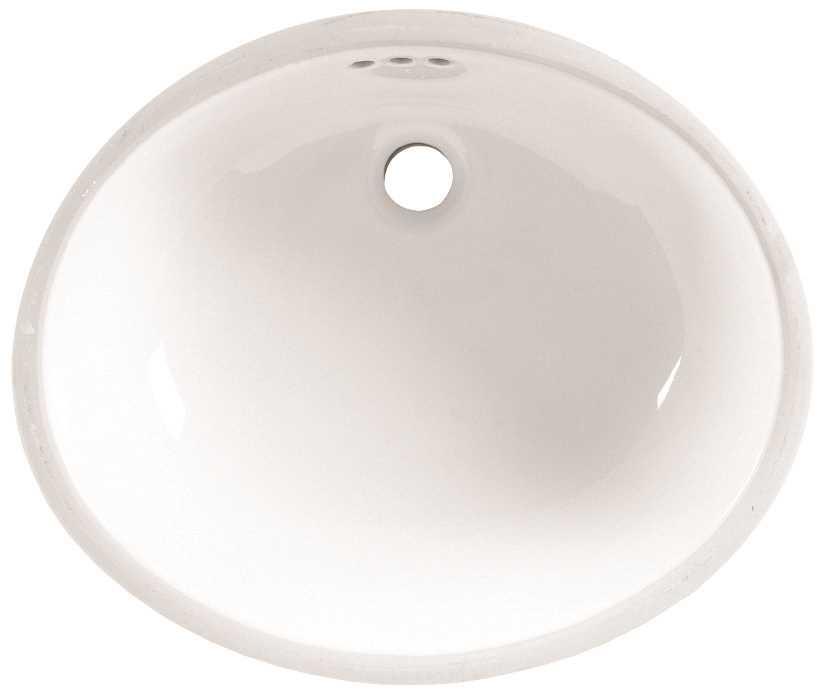 17-1/8X14-1/8 One Hole Single Band Vitreous China Undercounter Lavatory SINK