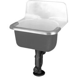 24X20-1/2 Cast Iron Utility Sink Akron White