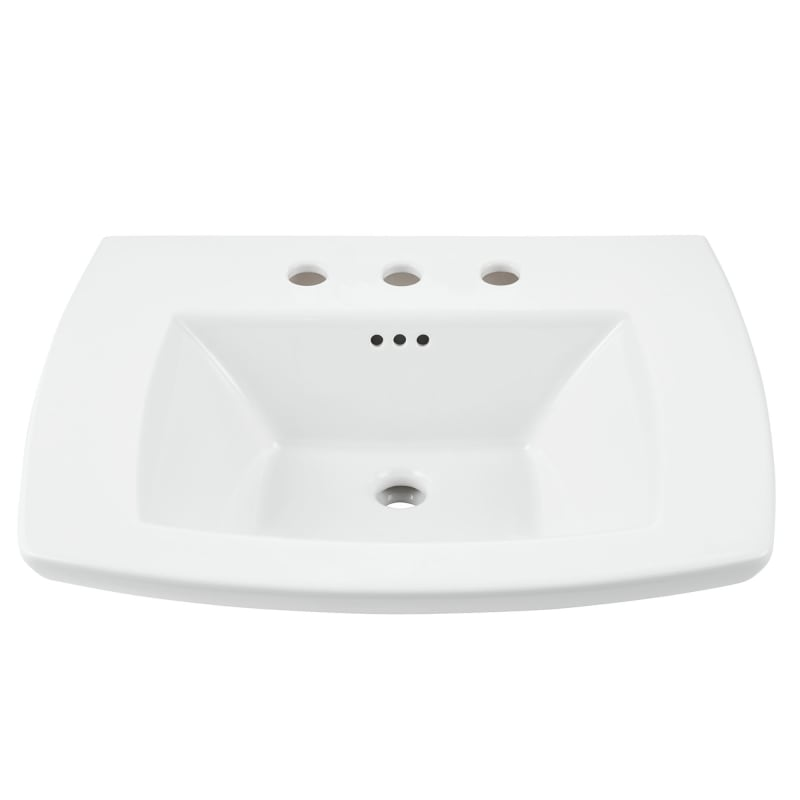 EDGEMERE SINK TOP 8 CTR -WHT