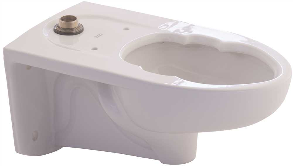 AFWALL MILLENNIUM ELONGATED FLUSHOMETER TOILET BOWL, LESS EVERCLEAN, TOP SPUD WITH SLOTTED RIM, WHITE