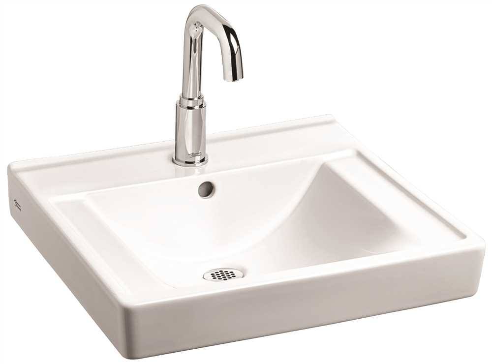 AMERICAN STANDARD DECORUM WALL HUNG BATHROOM SINK, 4 IN. CENTERS