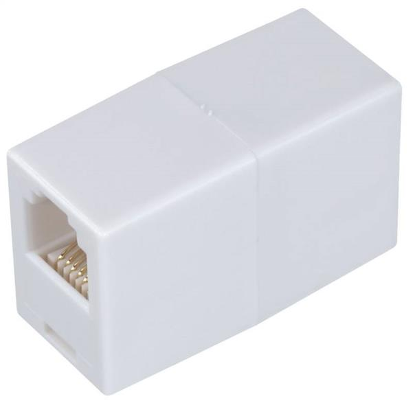 COUPLER PHONE CORD IN-LINE WHT