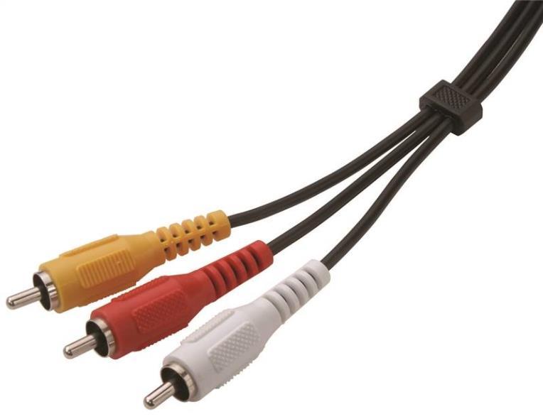 AmerTac Zenith VT1006COMPOS Composite Audio Video Cable, 6 ft